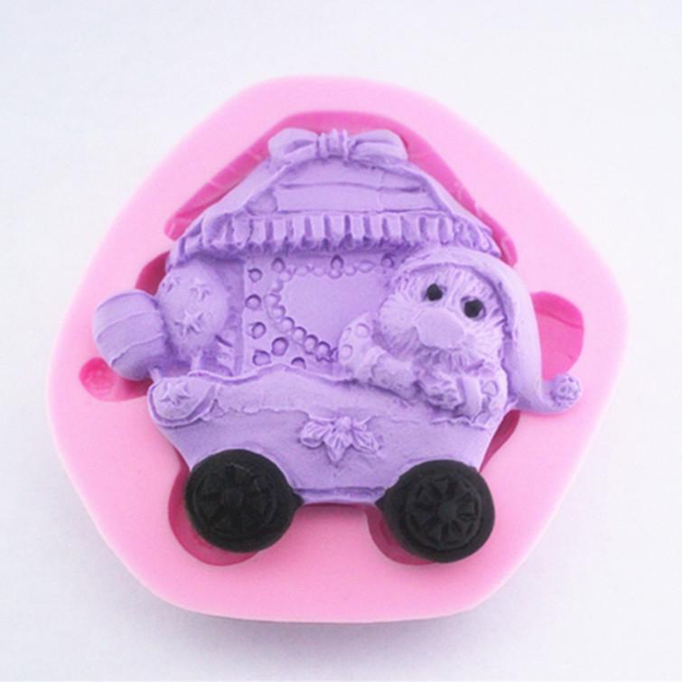 Silica gel cake and mold soap mold silicone 3D model and cart