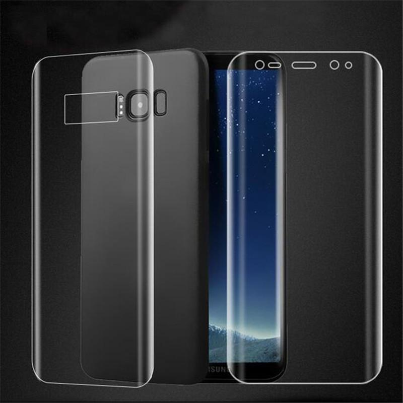 brand new 9f6f4 57f26 Full Boby Front Back Clear Soft PET Screen Protector For Galaxy S8 note 8  S7 Edge S9 Plus Protective Film ( Not Glass )