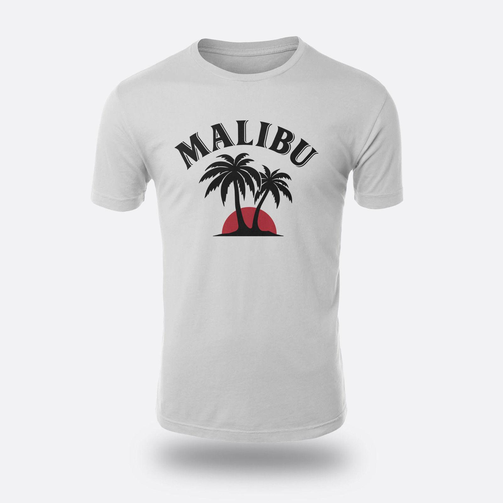 7481e6a7112d54 Malibu Rum Beach City Tequila Men S T Shirt S To 3XL Color White Casual Male  Tshirt Men Tops Tees Tees 100% Cotton Casual And T Shirt T Shirt Makes From  ...