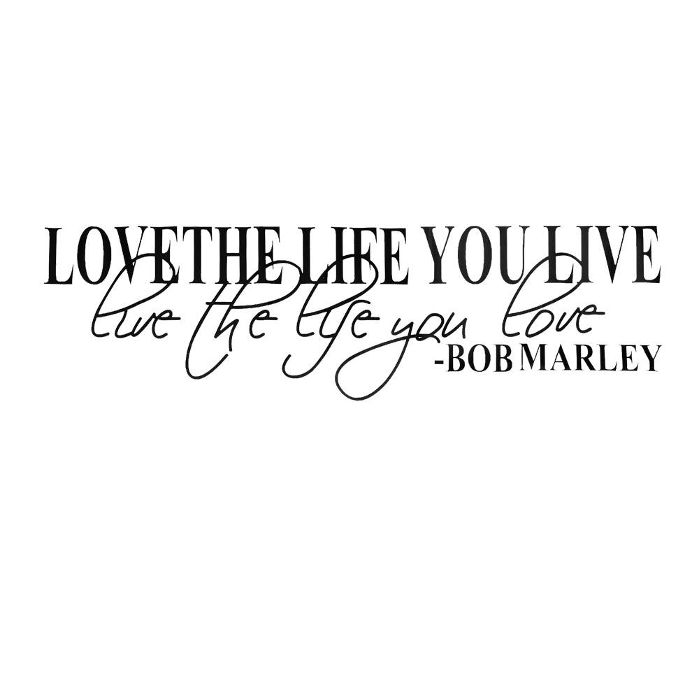 lesuperay new bob marley quote wall decals decor love life words
