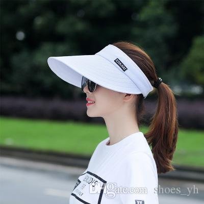 979e9a3f59c 2018 Hat Female Spring And Summer Empty Top Hat Male Running Leisure ...