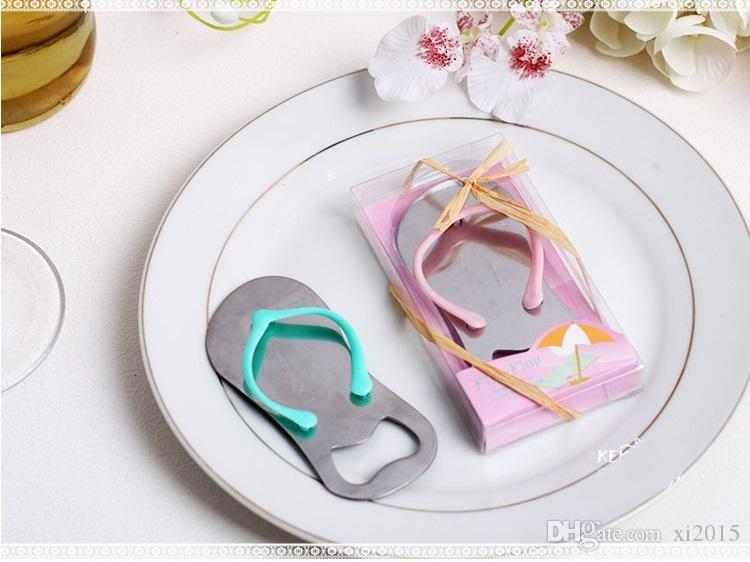 Creative Beach Flip-Flop Shoes Shape Opener Beer Bottle Opener With Gift Box Wedding Favor Wedding Gifts