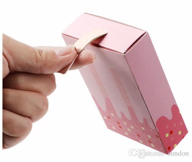 200 unids / lote Helado Forma Linda Cajas de Regalo Baby Shower Fiesta de Cumpleaños Caja de Dulces Cajón de Dibujos Animados Caja de Regalo Para Niños Favor de Fiesta