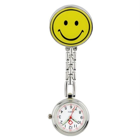 Lovely Smile and pada design fashion nurse doctor FOB pocket watches unisex women ladies Medical professional hospital clock watches