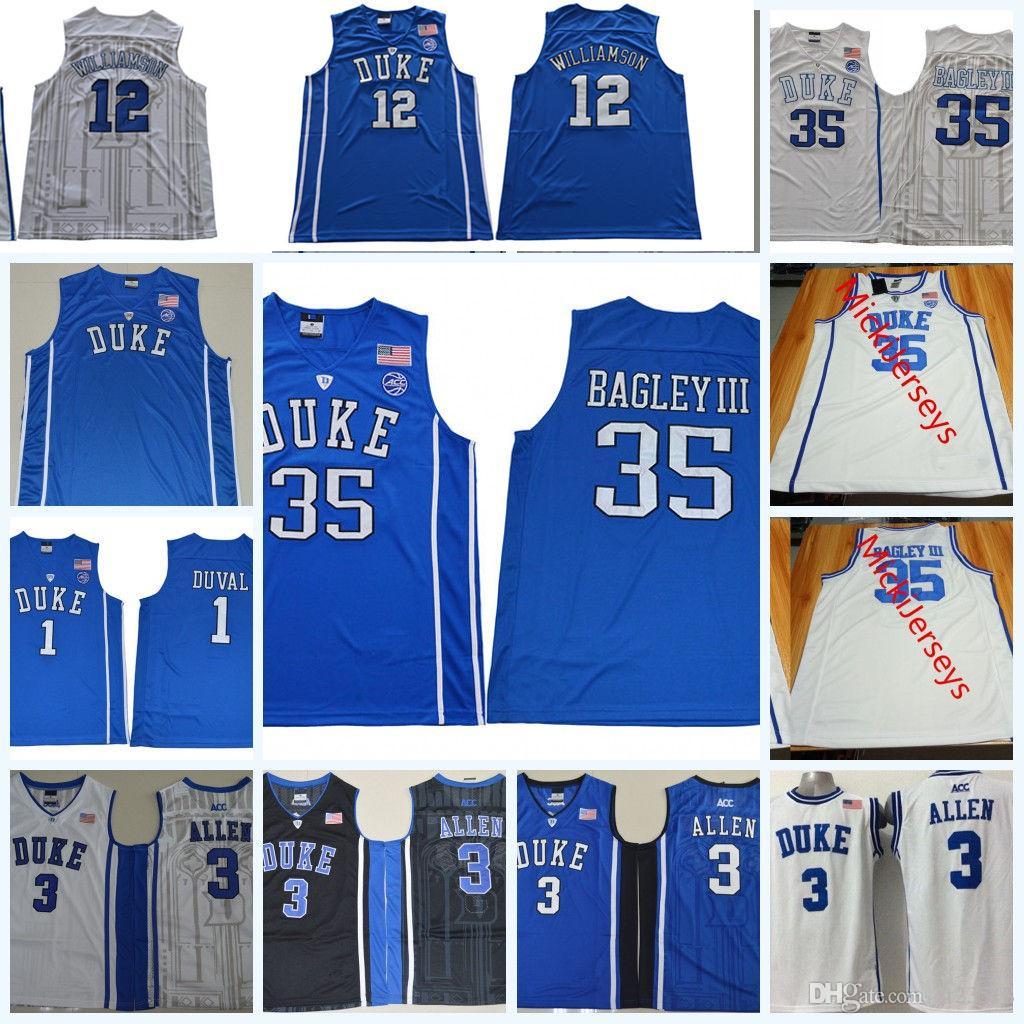 eab4456fea01 Großhandel 2018 NCAA Herzog Blue Devils Marvin Bagley III College Basketball  Jersey Trevon Duval Garyson Allen Zion Williamson Duke Blue Devils Trikots  Von ...