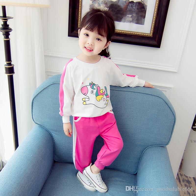2019 Baby Girls Sports Suits Clothing Newborn Fashion Outfits Kids Clothing  Cute Infant Toddler Simple   Easy Casual Luxury Girls Sportswear Set From  ... 8fbae05e3