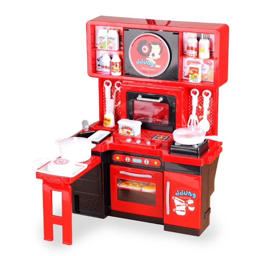 2d1b66be6bf1 Pretend Play Kitchen Toys Children's Toys Kitchen Cooking Cook Kindergarten  Toy Electric Parent Child Toy Set Mother Garden