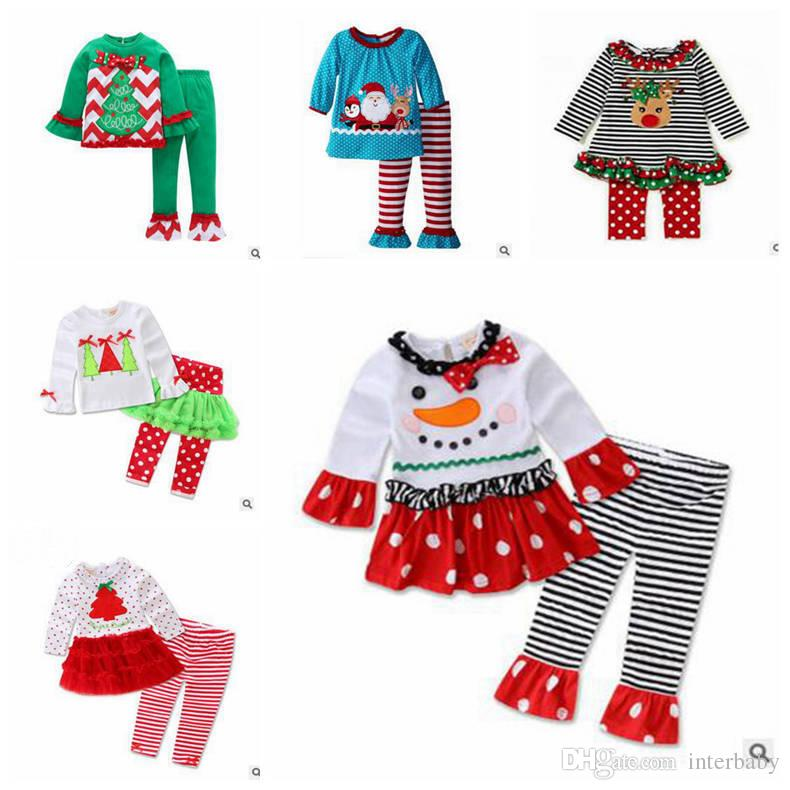 2018 Ins Baby Boys Baby Girls Christmas Outfits Kids Designer ...