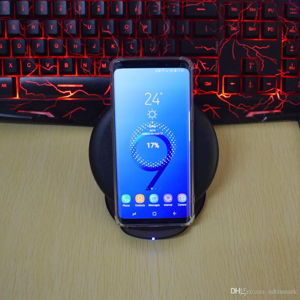 10W Qi Schnelle Wireless-Ladegerät für Samsung Galaxy S6 S7 S8 S9 Edge-Plus-Note 8 7 5 Wireless Charging Pad Ständer für iPhone X 8 Plus