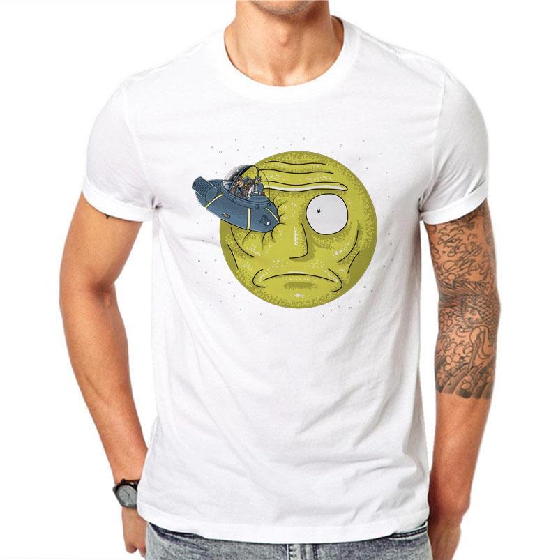 9bd56a97 100% Cotton Summer Ink Rick And Morty Spaceship Design Men T Shirts Fashion  Man Short Sleeve Xxxl Funny T Shirts Men Tshirts Business Shirt Retro Tees  From ...