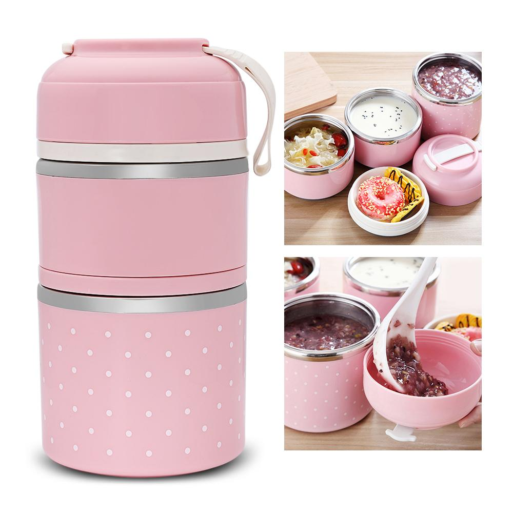 Mini In De Box.New Colorful Worthbuy Thermal Lunch Box Stainless Steel Food Storage