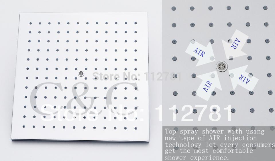 Best Air Drop Square Rainfall Bathroom Shower Head 10 Inch Brass ...
