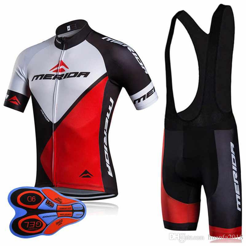 2018 MERIDA Team Pro Cycling Jersey + Bib Shorts Cycling Set Men s ... 97e6f84f3