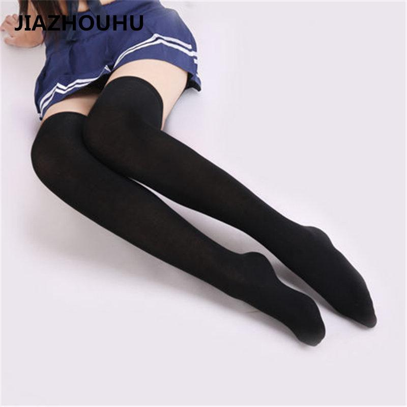 ad67fd4a0c4 Japanese Brand Striped Over The Knee Socks High School Women s Socks Thin  Summer Compression Lovely Sexy Long White Stockings