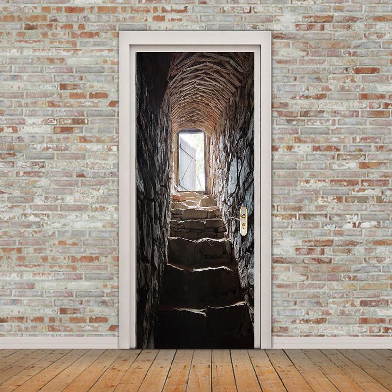 PVC 3D Wand Aufkleber Bücherregal Selbstklebende Tür ...