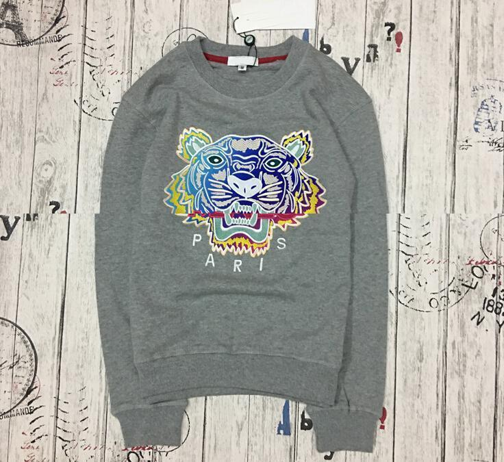 wholesale the best quality K*Z* Prais brand Embroidered tiger head logo sweater O-Neck pullover Terry sweatershirt jimpers original