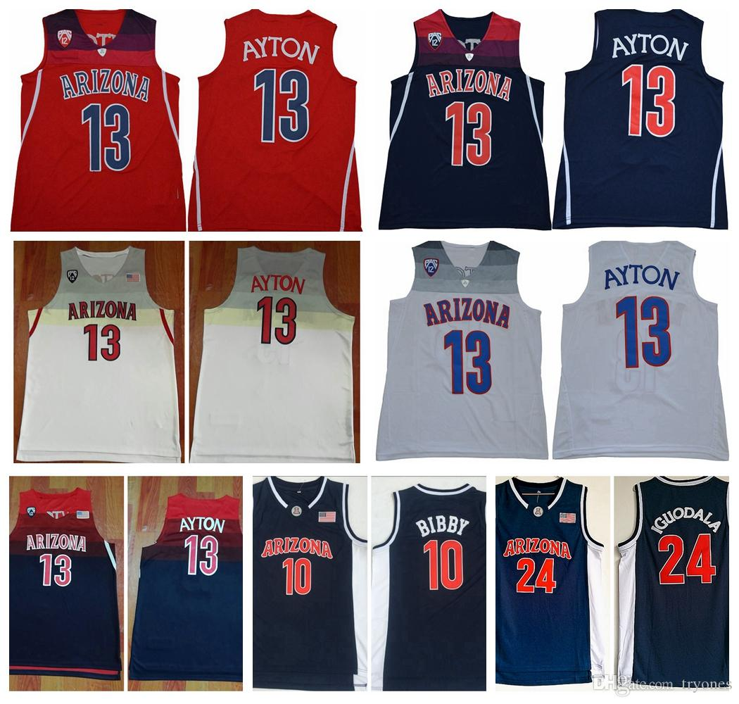 cheap for discount 2899f db92a Mens Arizona Wildcats 13 DeAndre Ayton College Basketball Shirts Vintage 24  Andre Iguodala 10 Mike Bibby Stitched University Jerseys