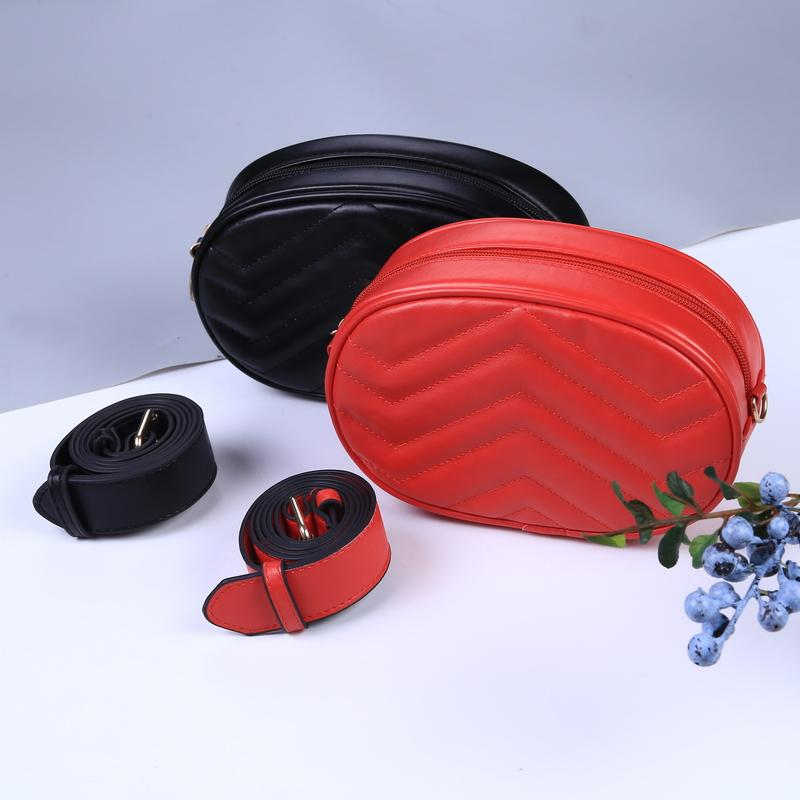 7bb74eea1a 2018 Fanny Bag For Women Waist Pack Women Round Belt Pack Luxury Brand  Leather Fashion Chest Handbag Drop Shipping Belly Bag Ladies Handbags Book  Bags From ...