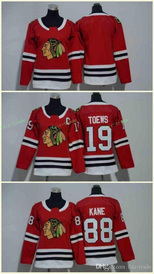 2019 Chicago Blackhawks Jerseys 88 Patrick Kane Jerseys 19 Jonathan Toews  Blank Home Red Kids Ice Hockey Jersey Men Women Youth Ladies Boys Girls  From Fair ... c424c0212863e