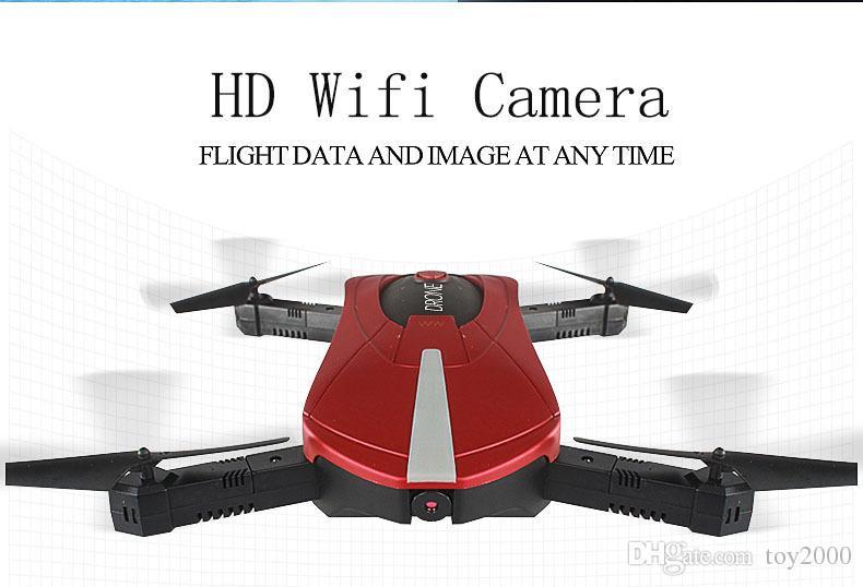 JD-18 Folding Quadcopter CE Drone UAV WiFi Control de teléfono móvil de alta altitud Control remoto Avión RC Helicopter