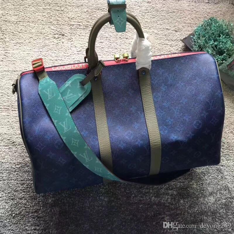 622bd25ebb Top Quality Women Designer Travel Bag 45cm 55CM Genuine Leather Men ...