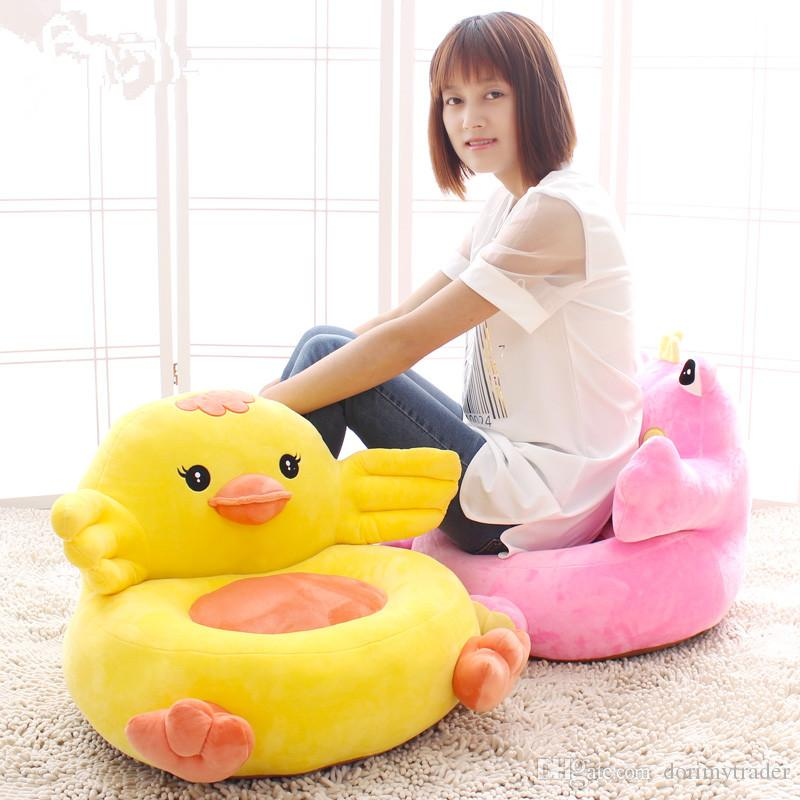 Kawaii Plush Animals Frog Chick Owl Penguin Kids Sofa Chair Stuffed Anime  Toys Cushion Gifts for Children DY50275 Plush Sofa Plush Kids Sofa Plush  Cartoon ... c624a6683454
