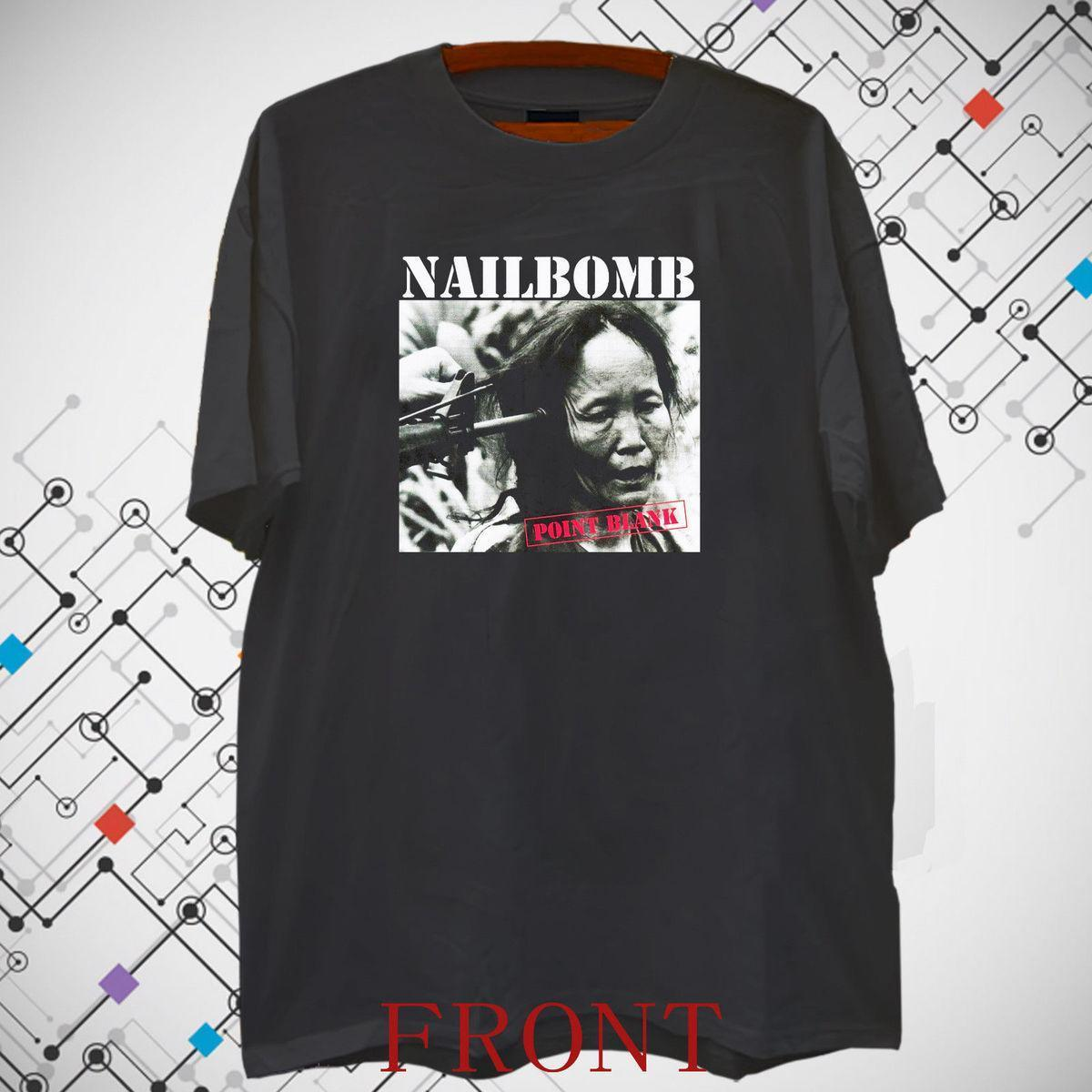 NAILBOMB POINT BLANK 94 SEPULTURA Men s Black T shirt Tee S-3XL Short  Sleeve Plus Size t-shirt colour jurney Print t shirt