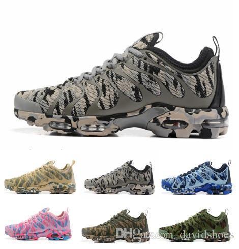 fbc9f0597638 Tn sapatos de grife sneakers air plus malha marca Preto Branco camuflagem  mulheres mens tênis de corrida formadores tênis de tênis Caminhadas Jogging  Sports