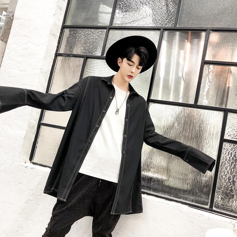 Chemise Acheter Streetwear Jtk1cu35lf Mode Homme De Lâche Hommes Longue 4LAj5R3q