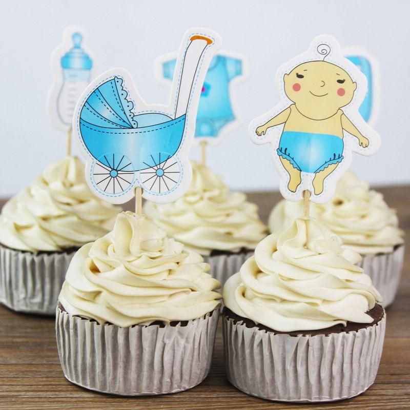 Grosshandel Geschlecht Enthullen Kuchen Cupcake Topper Kinder Happy
