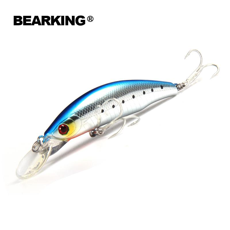 Retial quality bait A+ fishing lures,85mm 15g Bearking different colors,crank minnow popper hard bait 2017 hot modelY1883010