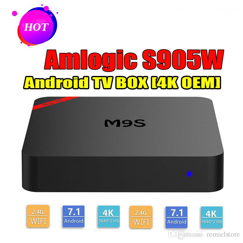 M9S MINI S905W Smart TV Box Android 7.1 4K Box TV Support Lan WiFi 4K video 3D movies Media Player Better TX3 X96 H96 S905W