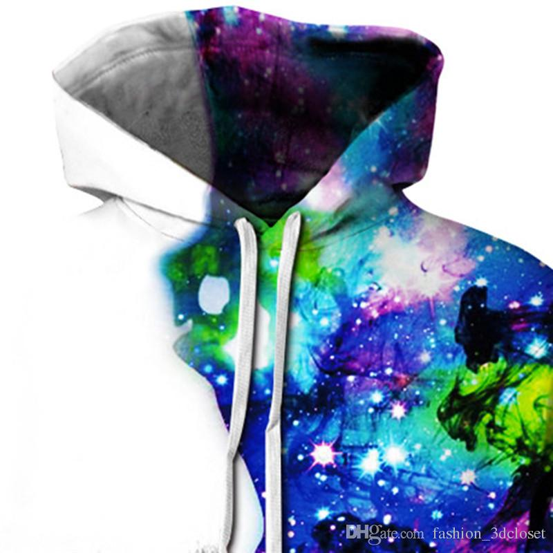 Famous Character 3D Hooded Colorful Smoking Sweatshirt Rainbow Style Tracksuit Men Casual Sportswear Fitness Hip Hop Hoodie
