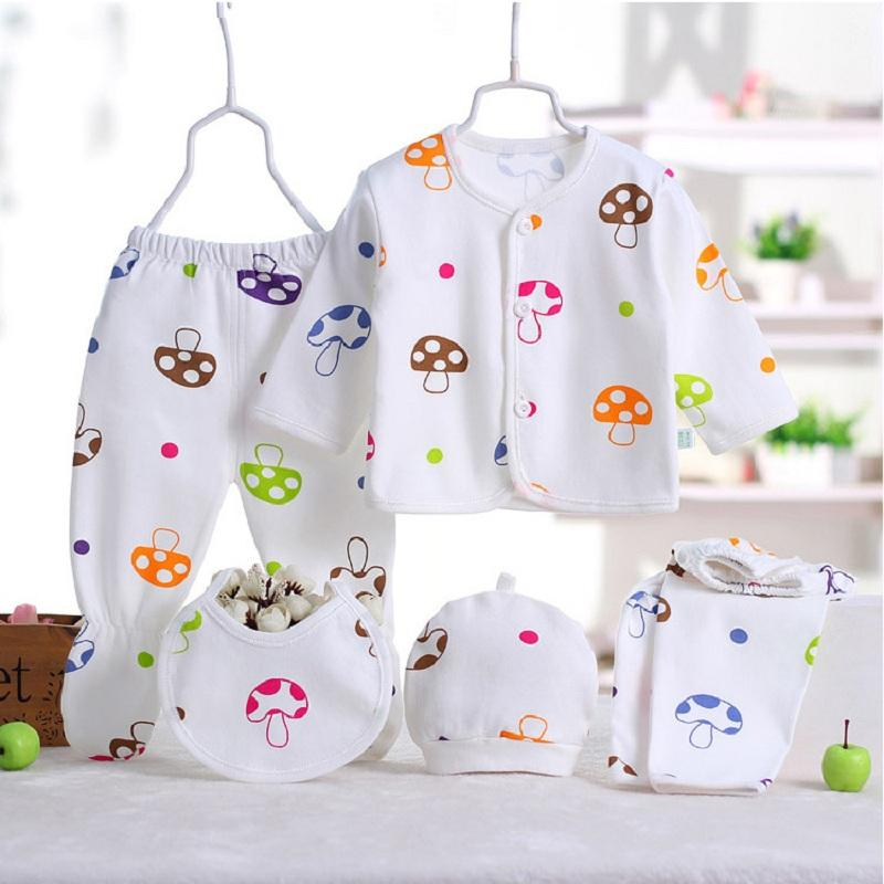 3f4fdf3e113 5pcs/set Newborn Baby Costume Baby Boy Clothes 100% Cotton Infant Clothing  Set Baby Girl Clothes Underwear Clothes