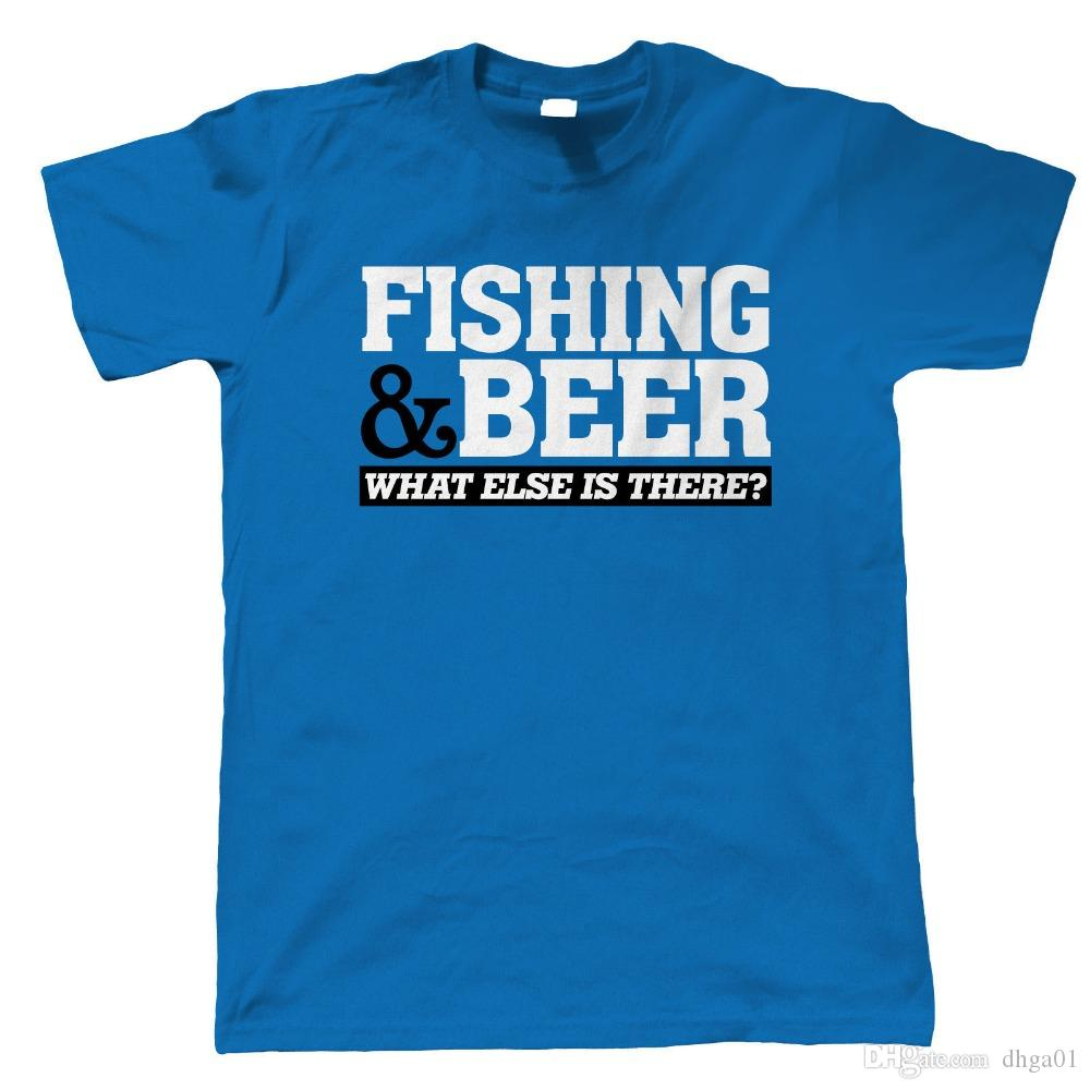 a71b1ce9b Printed T Shirts Fashion Men Crew Neck Short Sleeve Fishinger & Beer Carp  Fly Sea Gift For Dad Fathers Day T Shirts Funny Vintage T Shirts T Shirts  From ...