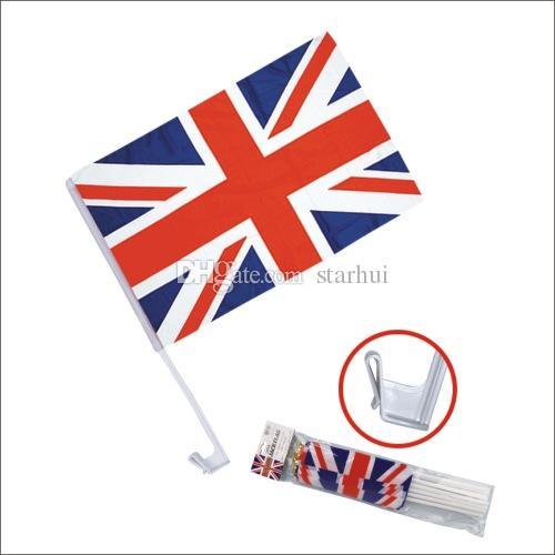 30 * 45 cm Banner Bayrakları Futbol Futbol 32 Ülke Takımı Araba Bayrak Çift Yan Polyester Araba Pencere Klip Reklam Bayrağı WX9-517