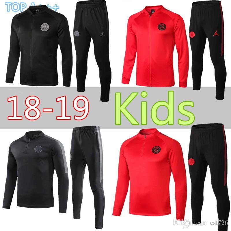 Psg Kind Junge Kinder Trainingsanzug Neue Paris Fussball Trainingsanzug Trainingsanzuge 18 19 Mbappe Lucas Maillot De Fuss Jacke Kinder Kit