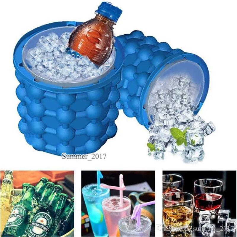 13*13cm Ice Cube Maker Genie cup The Revolutionary Space Saving Kitchen Tools Small Magic Ice Buckets Outdoor World Cup