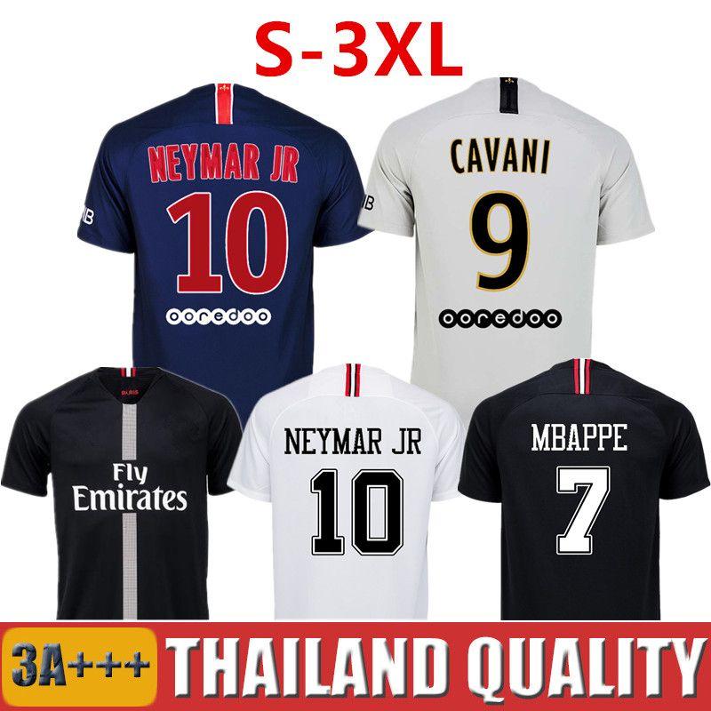53d33a5f4d Compre Top Tailândia Qualidade AIR JORDAN PSG 3RD 18 19 Camisas De Futebol  2019 Paris Saint Germain Camisa NEYMAR JR MBAPPE Jersey Survetement Futebol  Kit ...