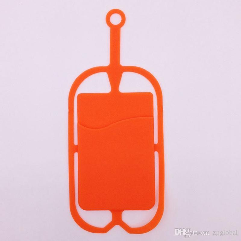 Silicone Lanyards Neck Strap Necklace Sling Card Holder Strap for Universal Mobile Cell Phone With Opp Bag Package