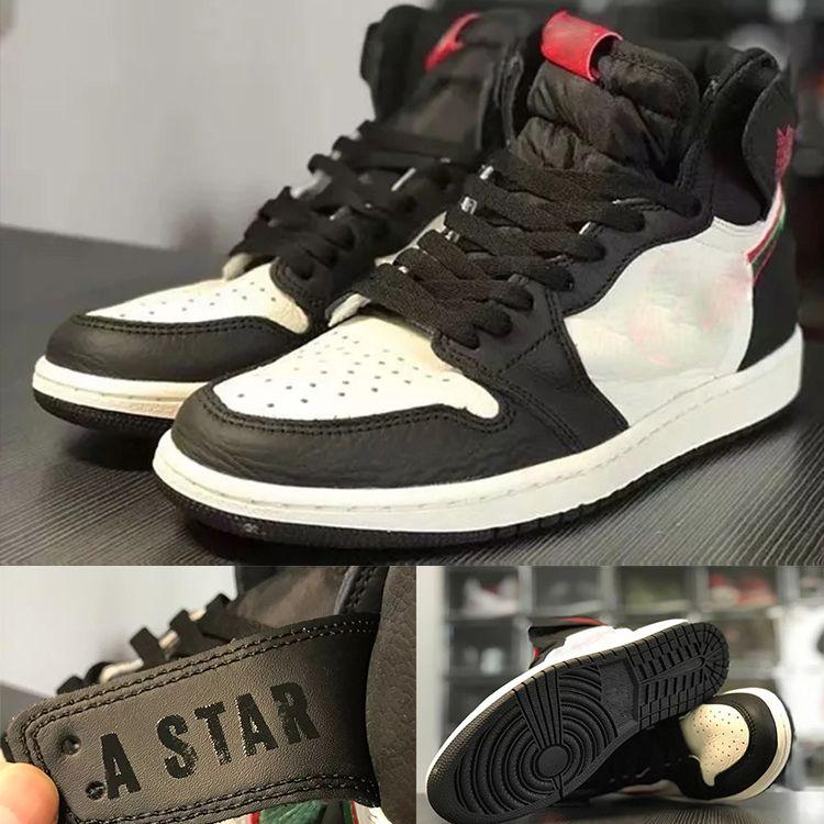 05c9c1314be22 Compre VENTA CALIENTE Zapatos De Diseñador 1 OG Zapatos De Baloncesto Para  Hombre ILUSTRADO A ESTRELLA NACE Chicago 1S Zapatillas De Deporte  Zapatillas De ...