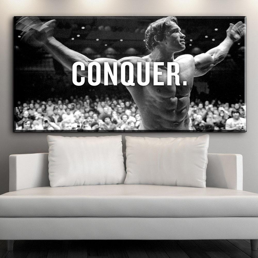 Compre 1 Panel Conquer. Arnold Schwarzenegger Bodybuilding Cita De ...