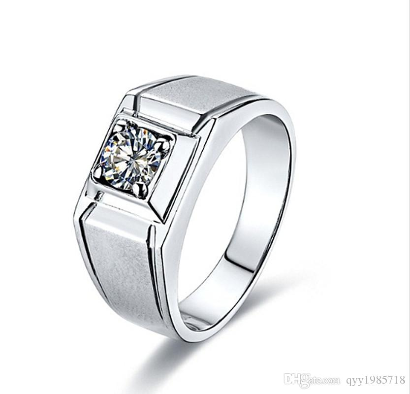 2019 0.5CT Design Male Jewelry Sterling Silver Quality Reliable Synthetic  Diamonds Carbon Ring For Men S Birthday Man Wedding Ring From Qyy1985718 8c87cd179d