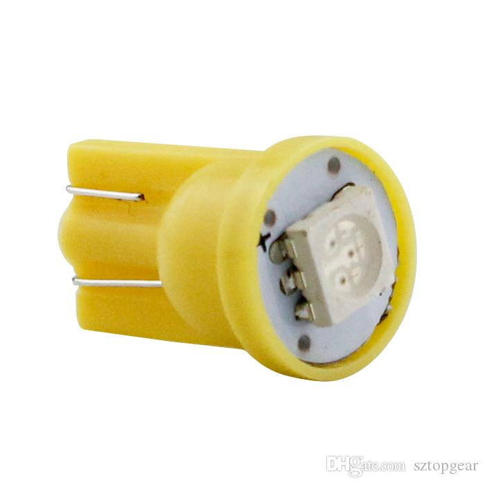 T10 W5W 5050 1 SMD LED Lampe 194 168 Auto Voiture Côté Cale Marqueur De Lecture Lumières Indiquent Des Ampoules 12V 5-Couleurs