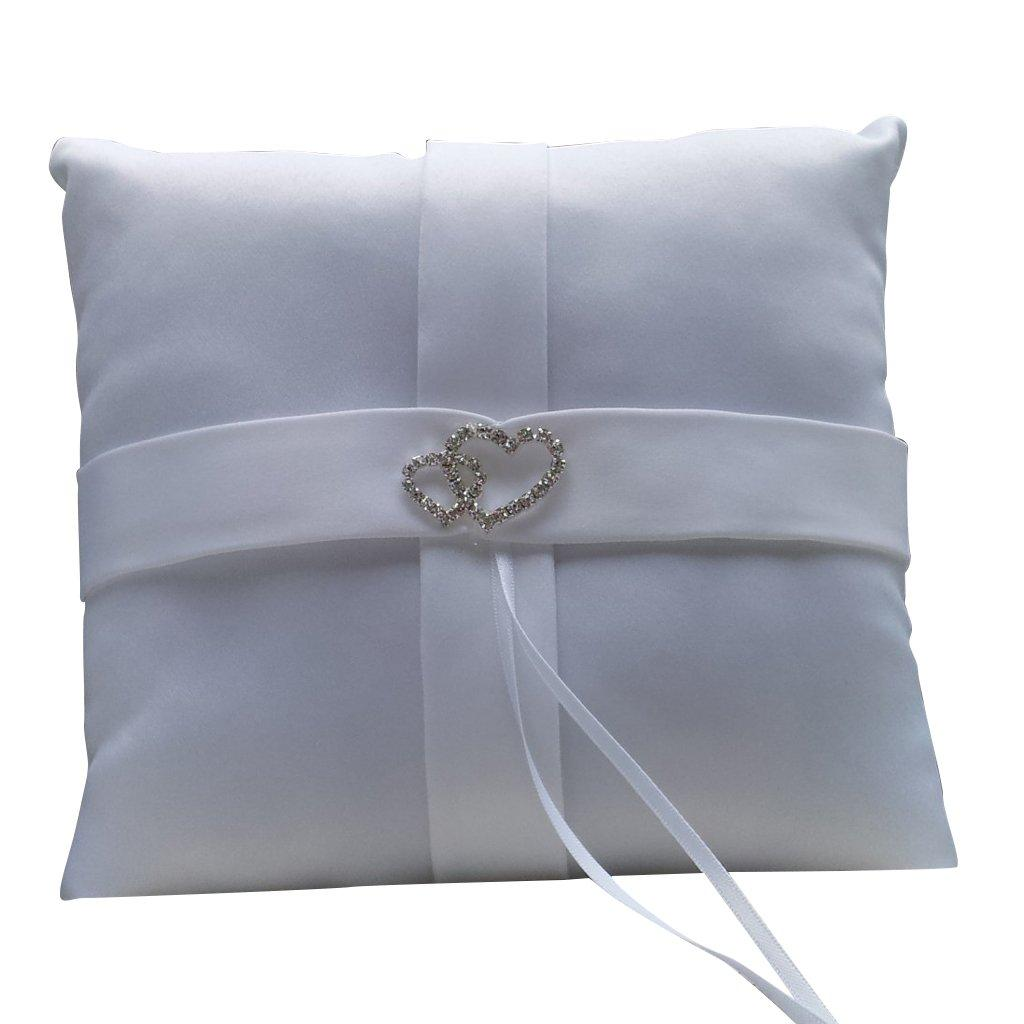 zoom pillow ring with loading shaped ribbons heart