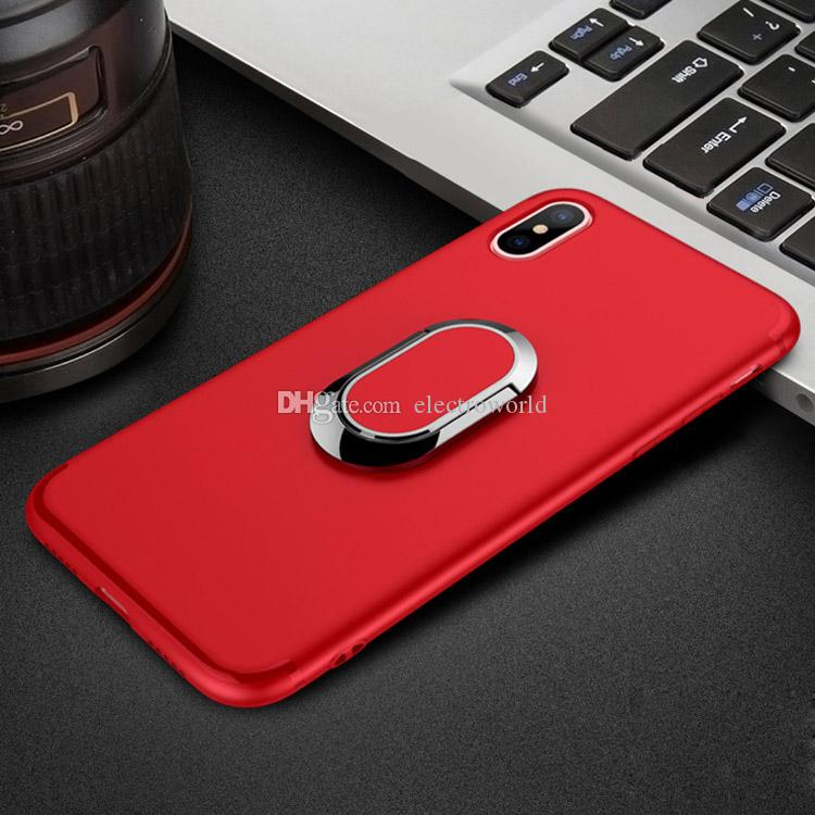 3in1 vehicle hand set ring magnetic absorption protective iPhone X phone  cases