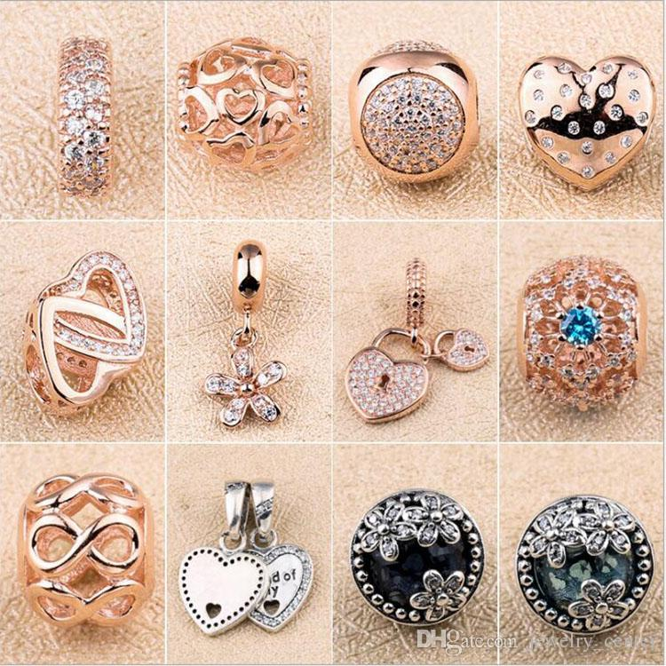 546f87520 2019 18K Rose Gold Charms Clips Pendant For Pandora 925 Sterling Silver  Charm Bracelet Necklace Jewelry Making From Jewelry_center, $7.93 |  DHgate.Com
