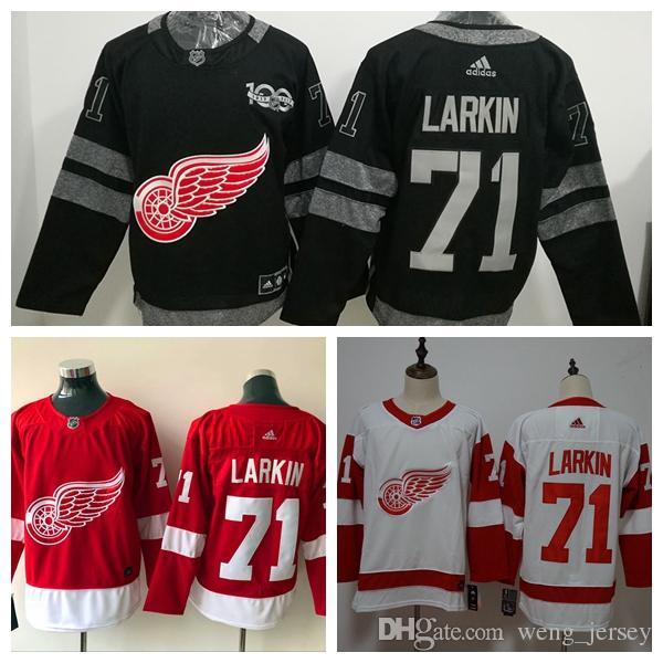 cdbbf1d31 2019 New Mens 71 Dylan Larkin Detroit RedWings Hockey Jerseys 100 ...