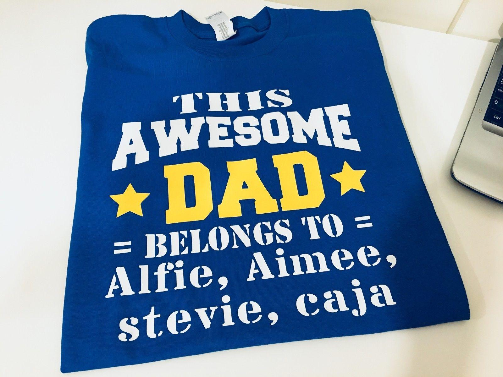 c629f3196 THIS AWESOME DAD BELONGS TO PERSONALIZED NAMES DAD T SHIRT TEE TOP SHIRT  GIFT Unique T Shirts For Sale Design 1 T Shirt From Blue_water, $12.96|  DHgate.Com