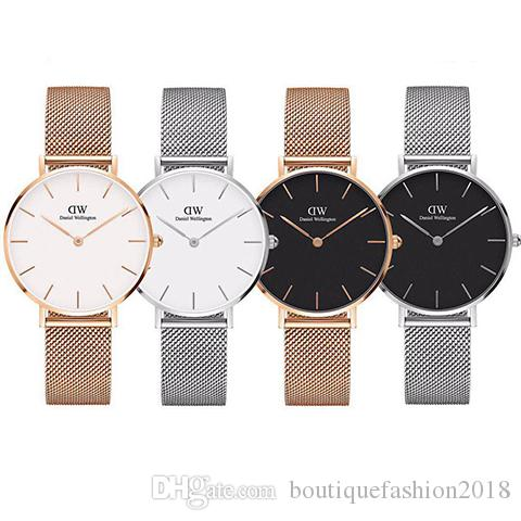 Top Luxury Brand Rose Gold Quartz Watch 40mm and 36mm 32mm Men's Casual Japanese Quartz Watch Stainless Steel Mesh with Slim Clock Ladies'